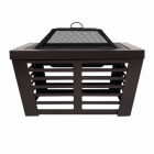 Contemporary Fire Pit & Grill Created From Steel