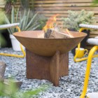 Rustic Fire Bowl in Situ in Garden