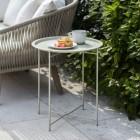 Steel Clay Side Table in Situ