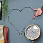 Heart Hanging Steel Wall Art to Scale