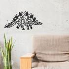 Geometric Iron Stegosaurus Wall Art in the Home