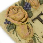 Stone Effect Rose House Name Sign