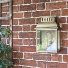 """Stoneford Park"" Half Wall Lantern in Situ Outside"