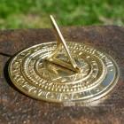 Sunface Polished Brass Garden Sundial