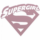 'Supergirl' Wall Art Finished in Dusk Pink