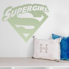 'Supergirl' Wall Art in Situ in the Living Room