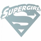 'Supergirl' Wall Art Finished in Light Blue