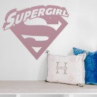 'Supergirl' Wall Art in a in the Living Room