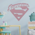 'Supergirl' Wall Art in a Children's Play Room