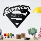 'Supergirl' Personalised Wall Art in the Home