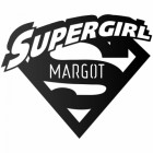 'Supergirl' Personalised Wall Art Finished in Black