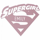 'Supergirl' Personalised Wall Art Finished in Light Lilac