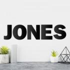 Individual Black Metal Letters 'JONES'