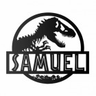 T-Rex Steel Monogram Steel House Name Sign Finished in Black