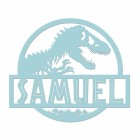 T-Rex Steel Monogram Steel House Name Sign Finished in Blue