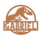 T-Rex Steel Monogram Steel House Name Sign Finished in a Rustic Finish