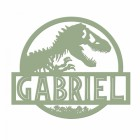 T-Rex Steel Monogram Steel House Name Sign Finished in a Sage  Green