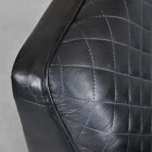 Close-up of the Black Finish Leather