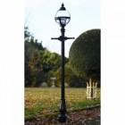 Glass Globe Style Lamp Post Set in Situ in the Garden