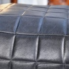 Close-up of the Black Finished Leather