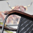 Close-up of the Mango Wood on the Arms of the Chair