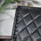 Close up of the Diamond Stitching in the Leather