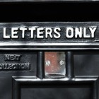 """Letters Only"" Embossed on the Front of the Post Box"