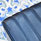 Blue Leather on the Seat of the Stool