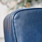 Close-up of the Blue Leather on the Stool