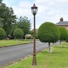 """The Ruxton"" Manor Style Garden Lamp Post in Situ in the Garden"