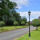 """""""The Wellwood"""" Manor Style Lamp Post in Situ on a Driveway"""