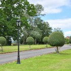Manor Style Lamp Post in Situ on a Driveway