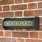 Times Past Victorian Black Styled Newspaper Box
