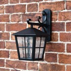 Top Fix Wall Lantern with Traditional Ornate Bracket