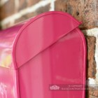 """Persian Summer"" Bright Pink Contemporary Post Box"