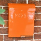 Top Opening Post Box In Bright Orange