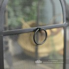 Traditional Black Arched Spark Guard Front Handle