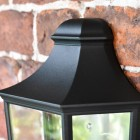 Close-up of the Top of the Traditional Black Flush Half Wall Lantern