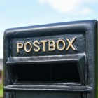 Close-up of the Fold Text on the Post Box
