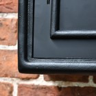 Close-up of the Black Finish on the Post Box