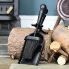 Traditional Black Iron Pan & Brush Set in Situ