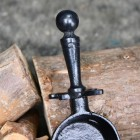 Traditional Long Handles on the Pan & Brush Set