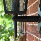 Traditional Bottom Fix Black Wall Lantern Bracket