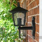 Traditional Four Sided Bottom Fix Black Wall Lantern