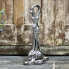 Traditional Chrome finish door porter with ornate detailing