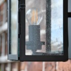 Close-up of the Seeded Glass on the Lantern