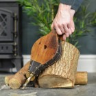 Traditional Hardwood and Leather Fireplace Bellows Scale