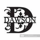 Letter D Monogram Name Sign Personalised with the Name Connor