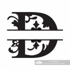 Letter D Personalised Monogram Name Sign