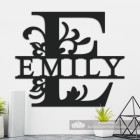 Letter E Personalised Monogram Name Sign in Situ in the Home